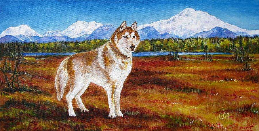 Dog Painting - Zips Bog Walk by Karen Copley
