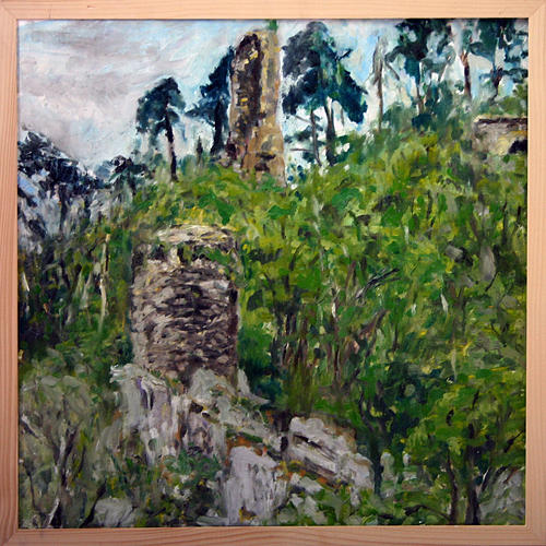 Landscape Painting - Zlomeny Kostelec by Pablo de Choros