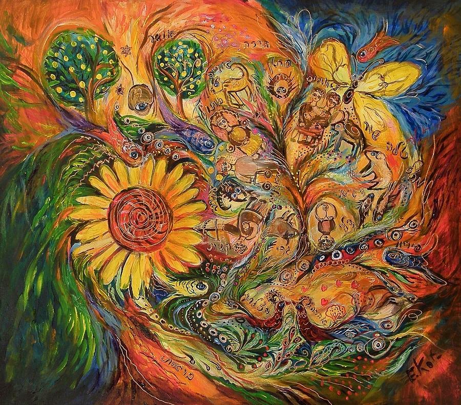 Original Painting - Zodiac by Elena Kotliarker