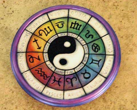 Astrology Mixed Media - Zodiac Lazy Susan by Mickie Boothroyd