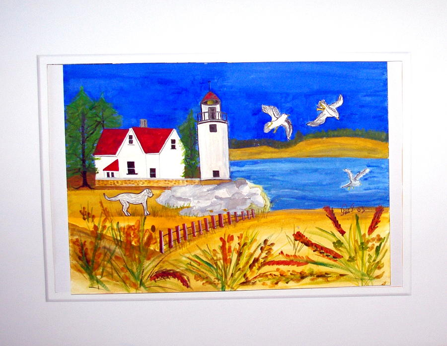 Lighthouse Painting - Zoe By The Lighthouse. by Patricia Fragola