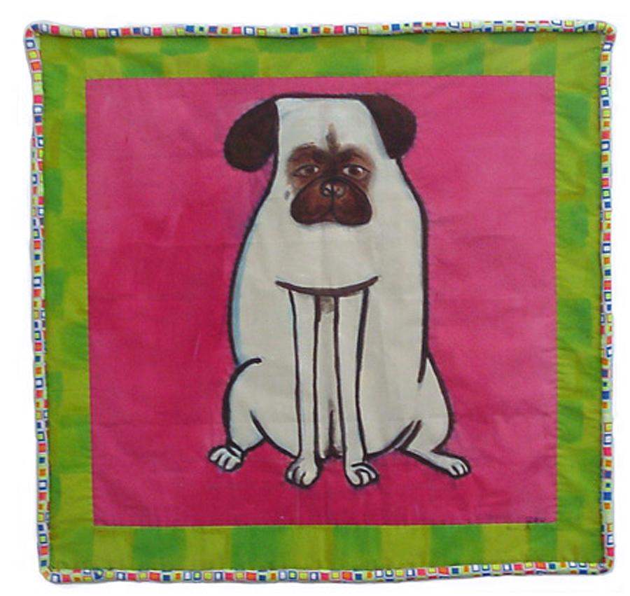 Pug Painting - Zoe by Grace Matthews