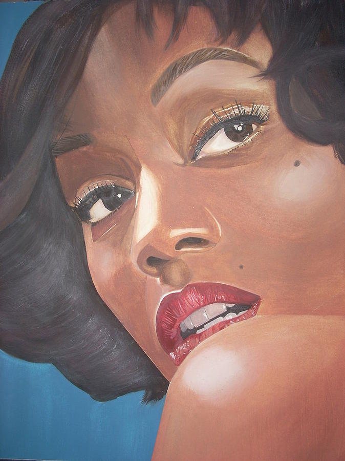 Portrait Painting - Zoe The Elegant by Cinque Smith
