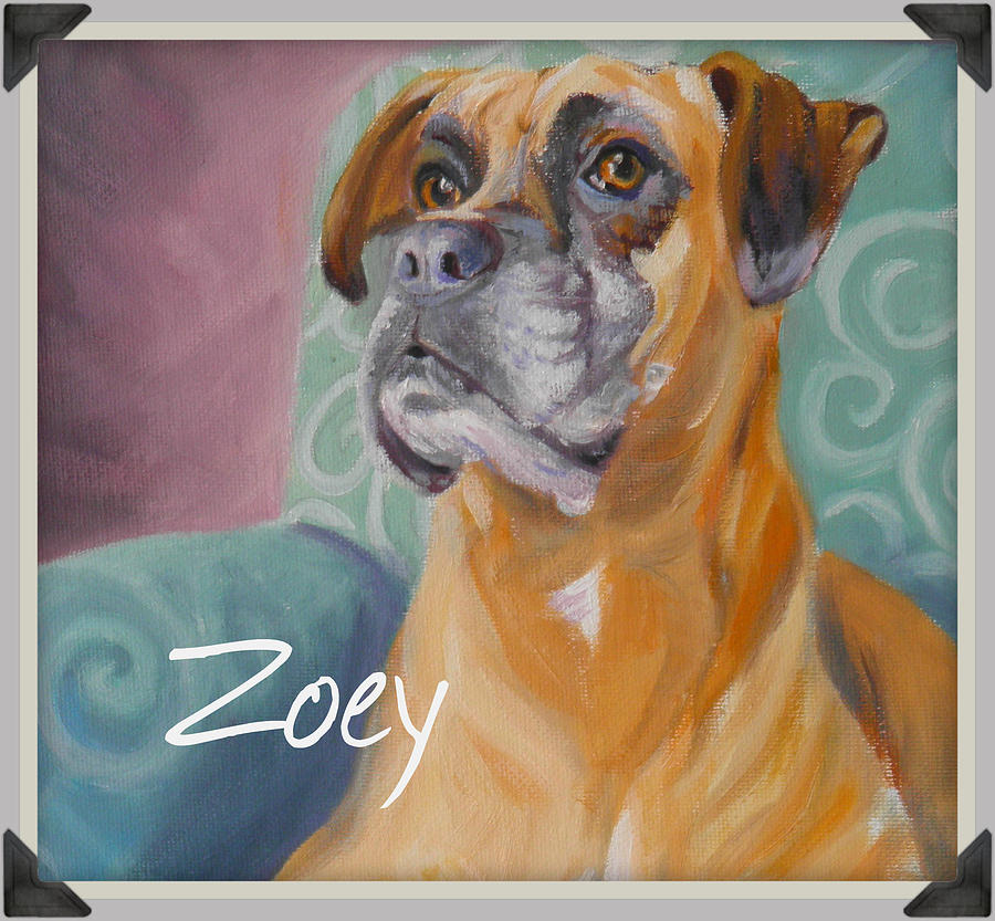 Zoey t shirt to order by Sharon Casavant