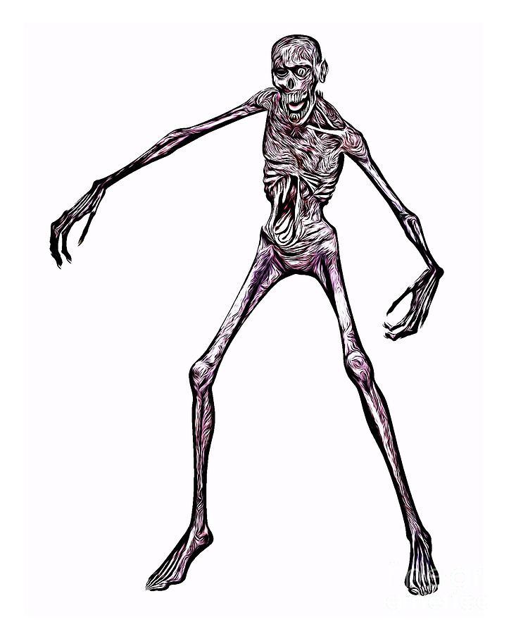 Zombie Digital Art - Zombie, Digital Art By Mb by Esoterica Art Agency