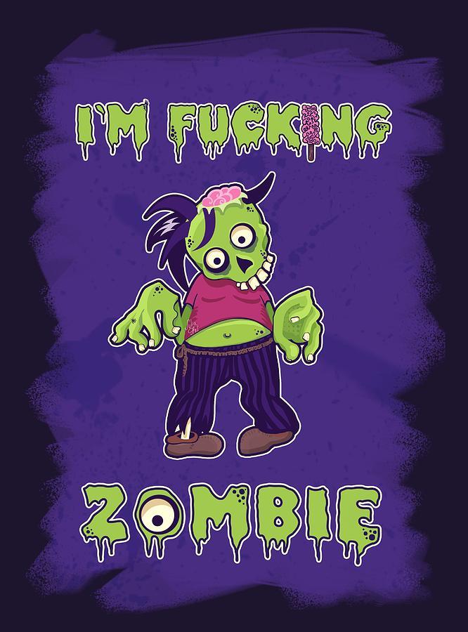 Zombie Digital Art - Zombie by Julia Art