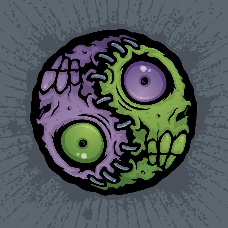 Zombie Yin-yang Digital Art