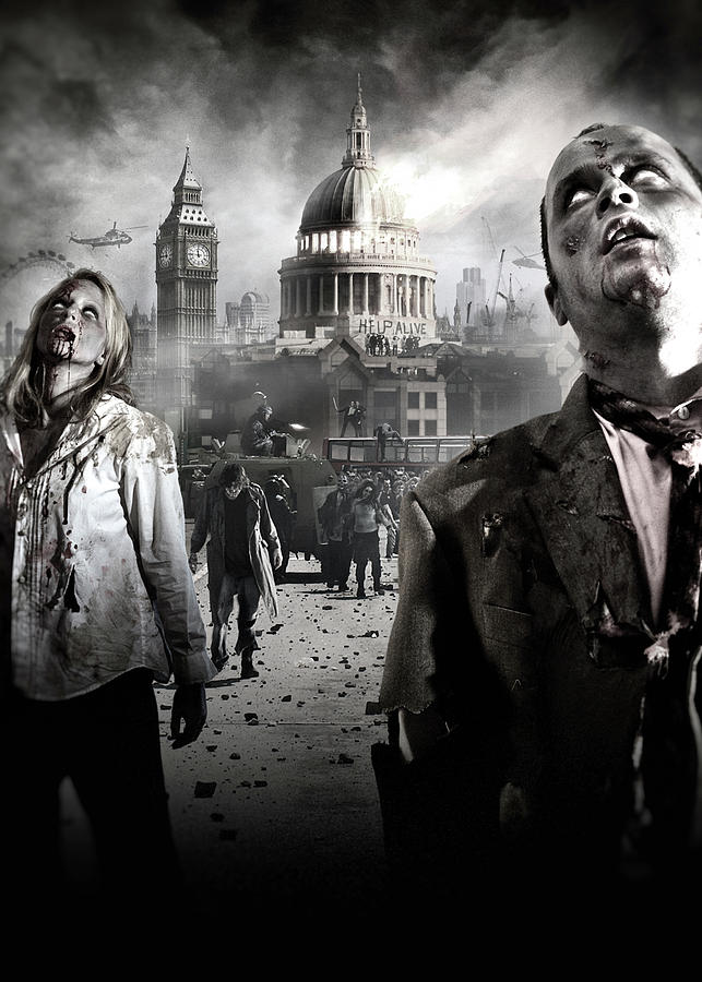 Zombies Digital Art - Zombies by Joe Roberts