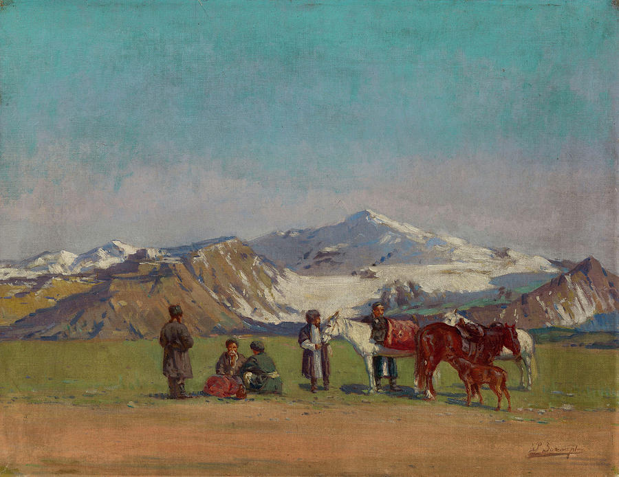 Nature Painting - Zommer, Richard 1866-1939 In The Mountains Of Alatau by Zommer Richard