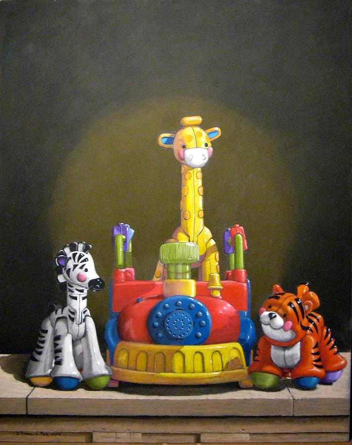 Pastel Painting - Zoo Train No 1 by David Francis