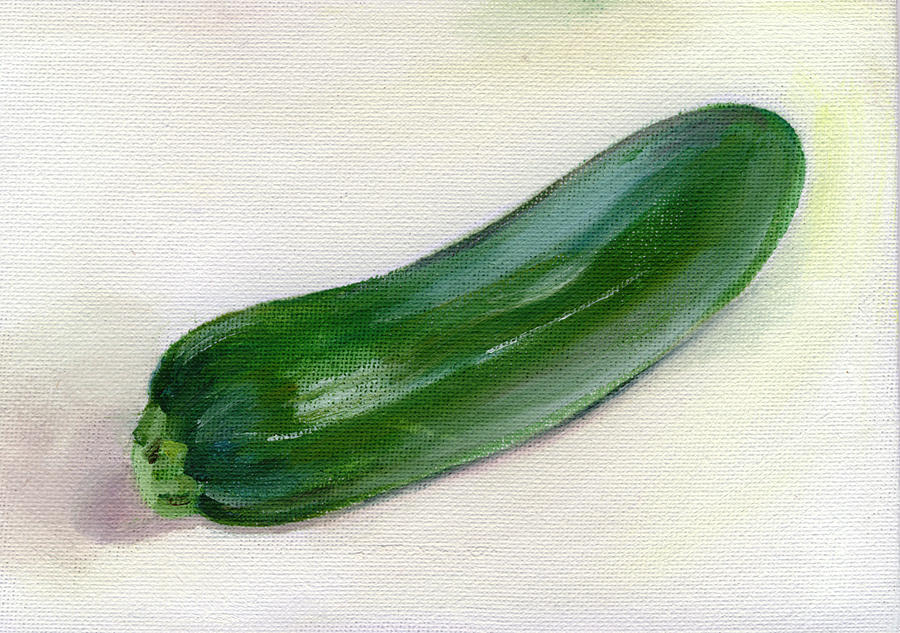 Food Painting - Zucchini by Sarah Lynch