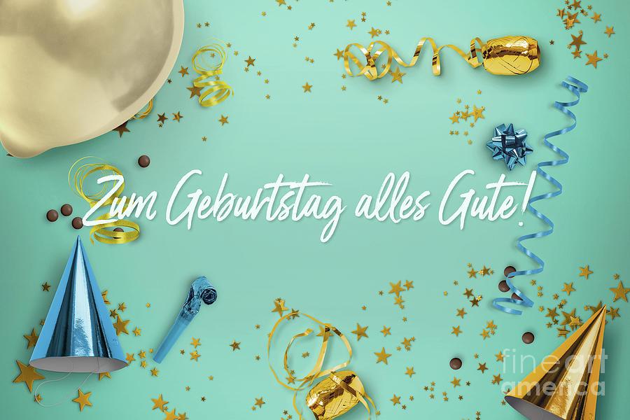 Happy Birthday Photograph - Zum Geburtstag Alles Gute Party Scene Layflat by Sharon Mau