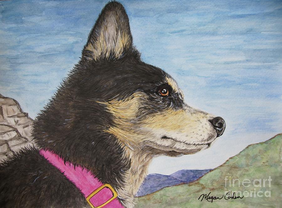 Dog Painting - Zuma by Megan Cohen