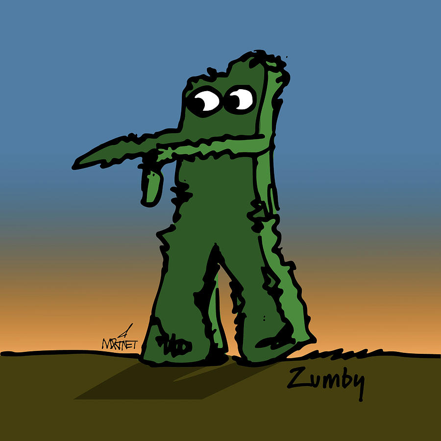 Halloween Digital Art - Zumby by Mike Martinet