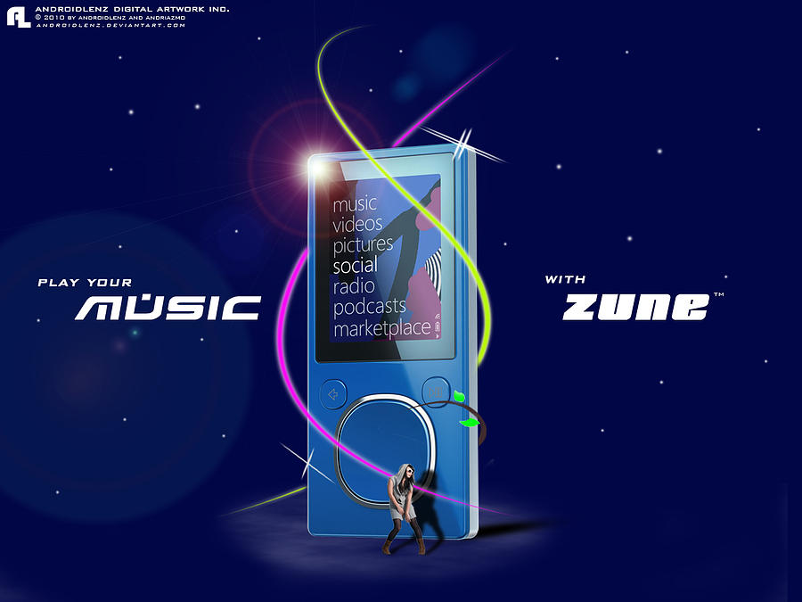 Zune Digital Art by Samuel Adi