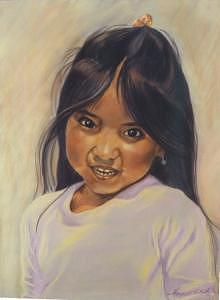 Native American Girl Painting - Zuni Coquettishness by Margaret A Clark Price