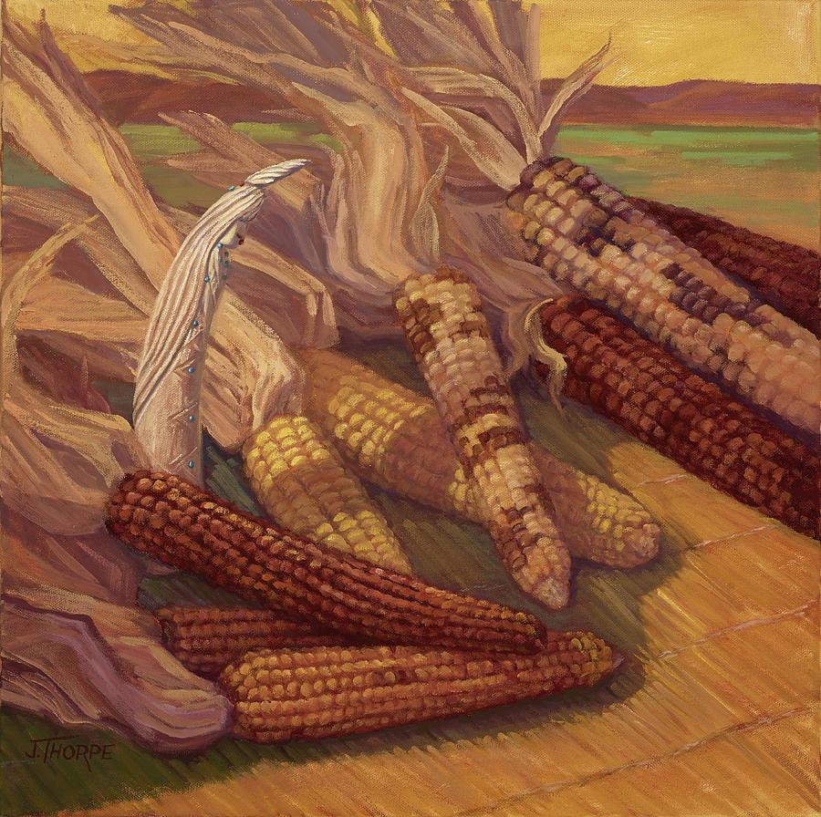 Still Life Painting - Zuni Corn Maiden by Jane Thorpe