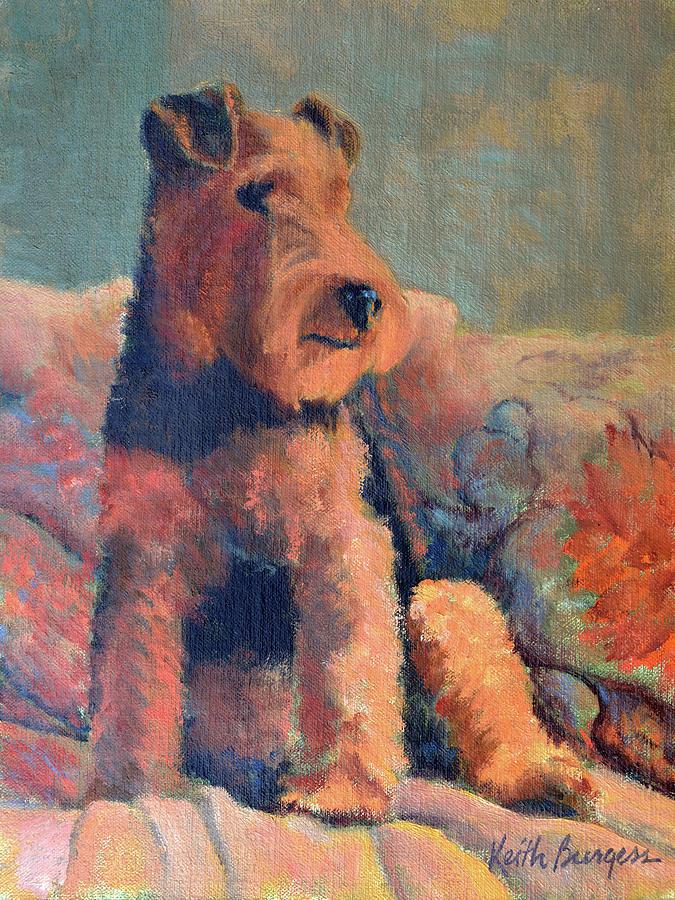 Pet Painting - Zuzu by Keith Burgess