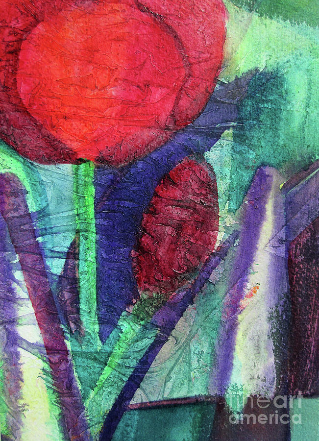 02 Tulip Abstract      by Kathy Braud