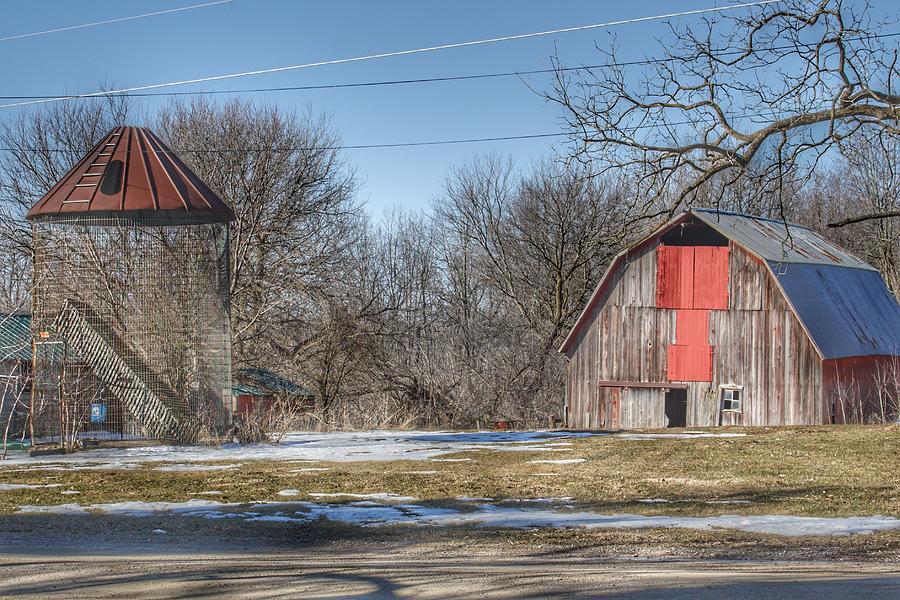 0261 - Roadside Red and Corn Bin by Sheryl L Sutter
