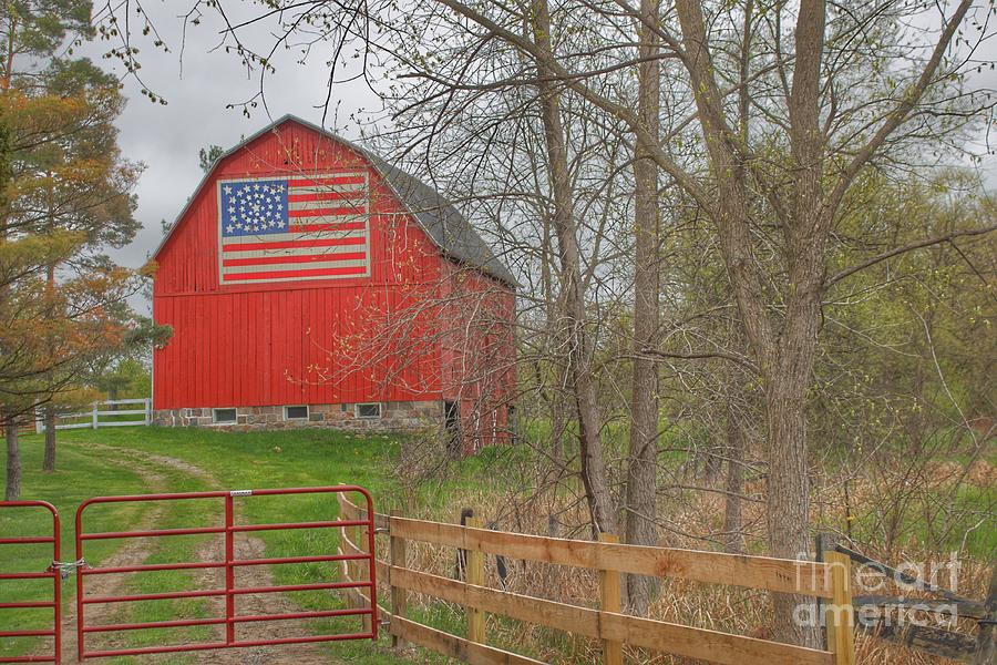 0293 - Patriot Barn II by Sheryl L Sutter