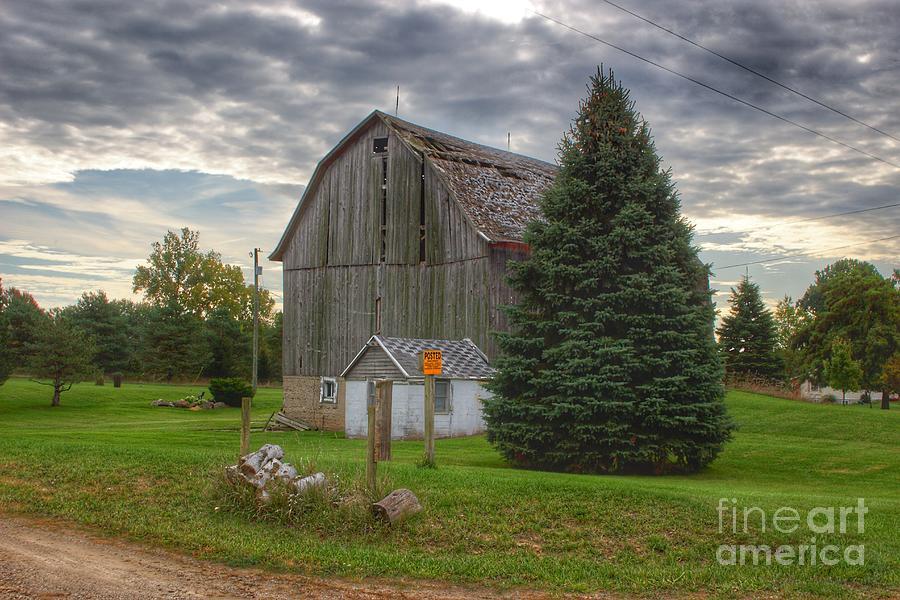 0702 - Rich Road Falling Grey II by Sheryl L Sutter