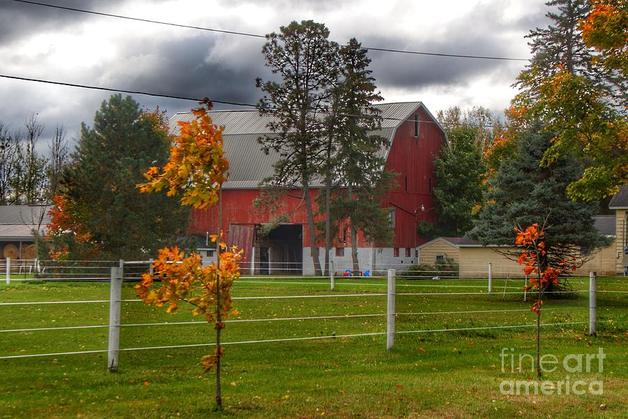 0705 - Farnsworth Road Red I  by Sheryl L Sutter