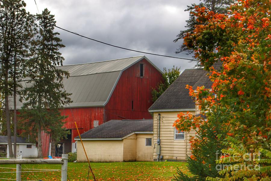 0706 - Farnsworth Road Red II  by Sheryl L Sutter