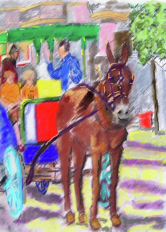 070919 Digital Pastel FRENCH QUARTER by Garland Oldham