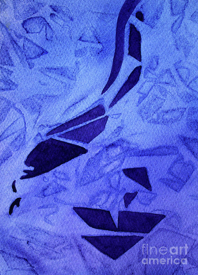 08 Purple Abstract 1 by Kathy Braud