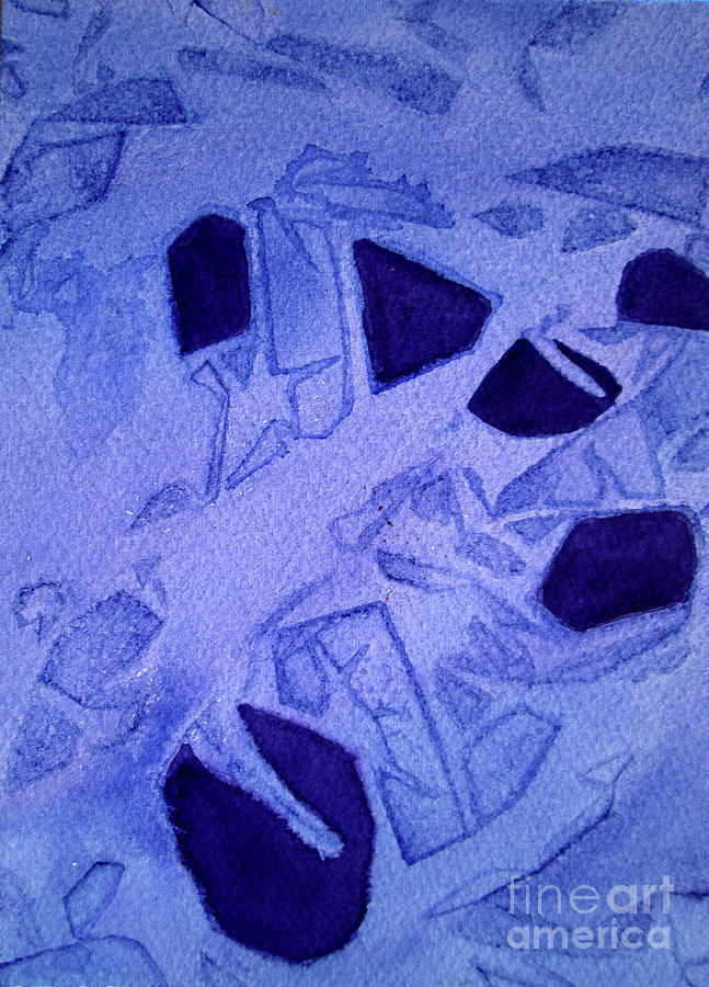 09 Purple Abstract 2 by Kathy Braud