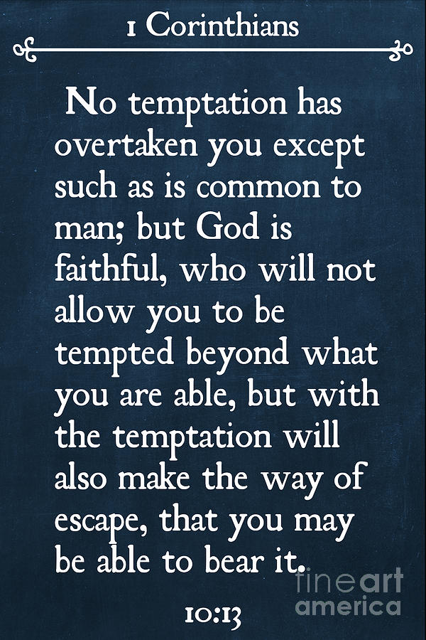 1 Corinthians 10 13 Inspirational Quotes Wall Art Collection Painting By Mark Lawrence