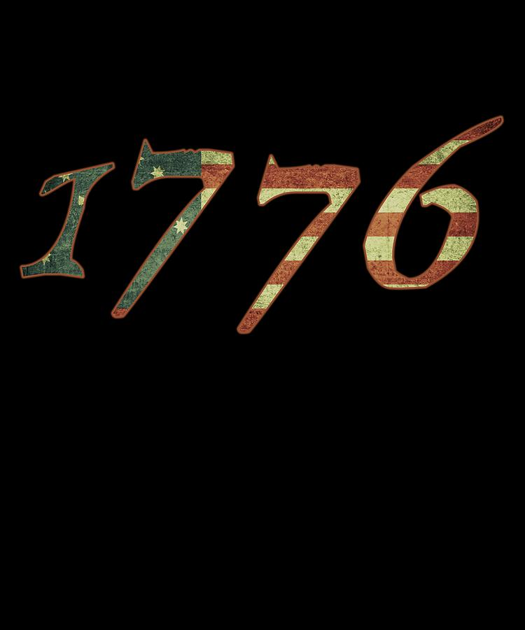 1776 Declaration of Independence US Flag by Flippin Sweet Gear