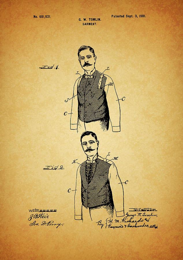 1901 Mens Suit Patent by Dan Sproul