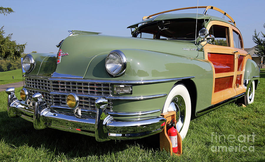 Chrysler Photograph - 1947 Chrysler Town And Country Woody by Steve Gass