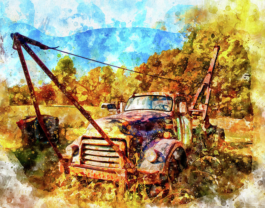 Truck Digital Art - 1950 Gmc Truck by Mark Allen
