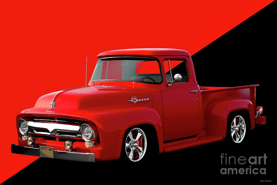Automobile Photograph - 1956 Ford F100 Stepside Pickup by Dave Koontz