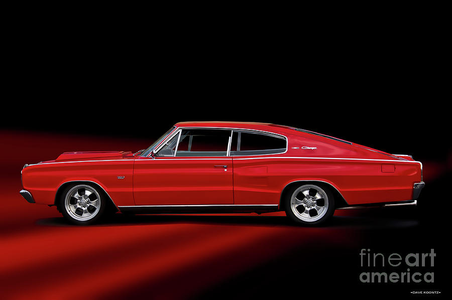 1966 Dodge 383 Charger Photograph By Dave Koontz