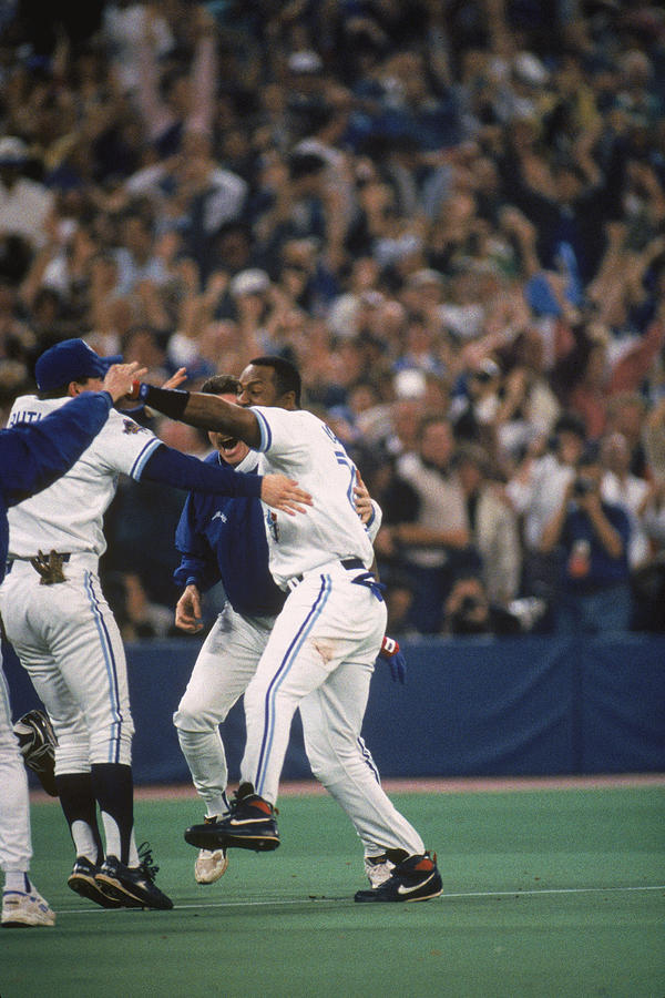 1993 World Series Game Six - Photograph by Mlb Photos