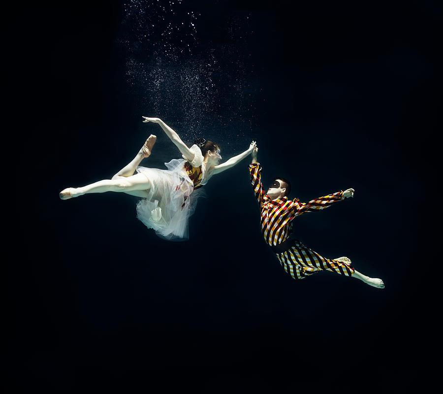 2 Ballet Dancers Underwater Photograph by Henrik Sorensen