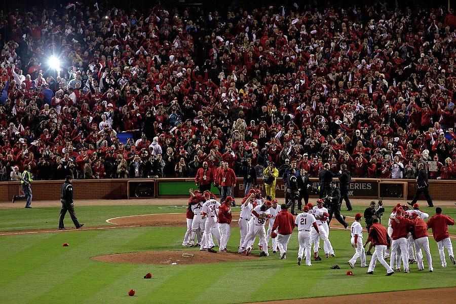 2011 World Series Game 7 - Texas Photograph by Rob Carr