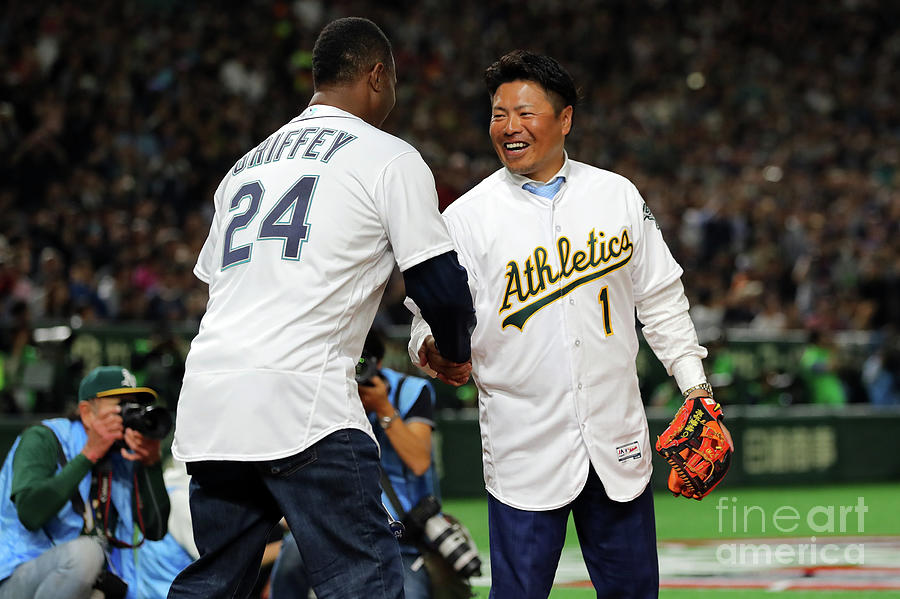 2019 Opening Series Oakland Athletics Photograph by Alex Trautwig