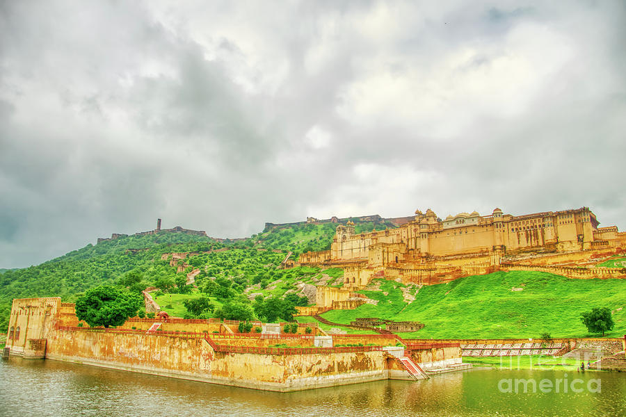 Amer Fort Photograph - A Pano View Of Amer Fort - India by Stefano Senise