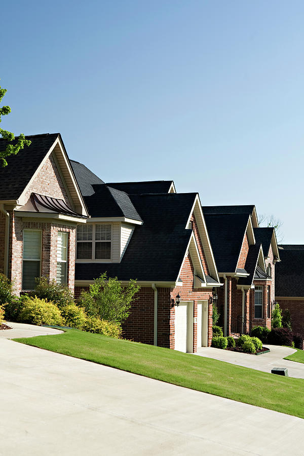 A Row Of Homes In A Residential Photograph by Wesley Hitt