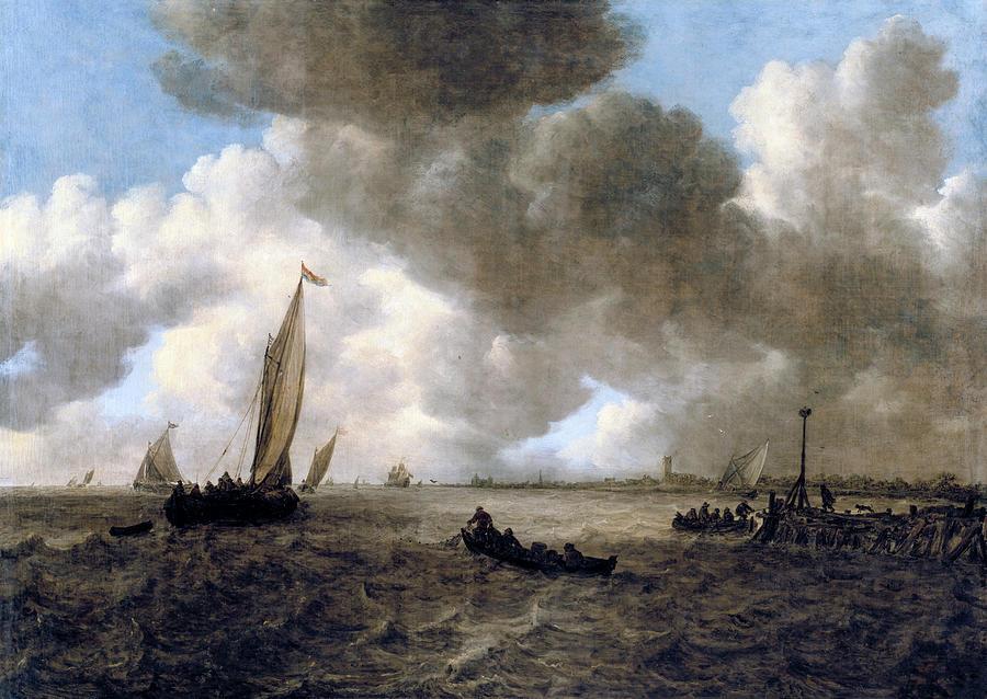 A Stormy Seascape by Jan van Goyen