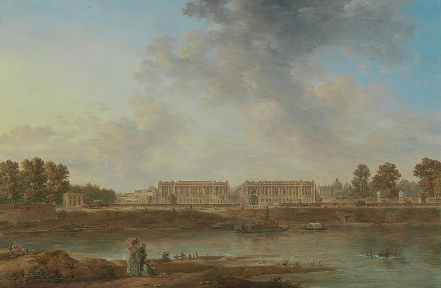 View Painting - A View Of Place Louis Xv by Alexandre-Jean Noel