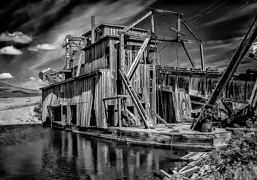 Abandoned Dredge by Michael Sedam