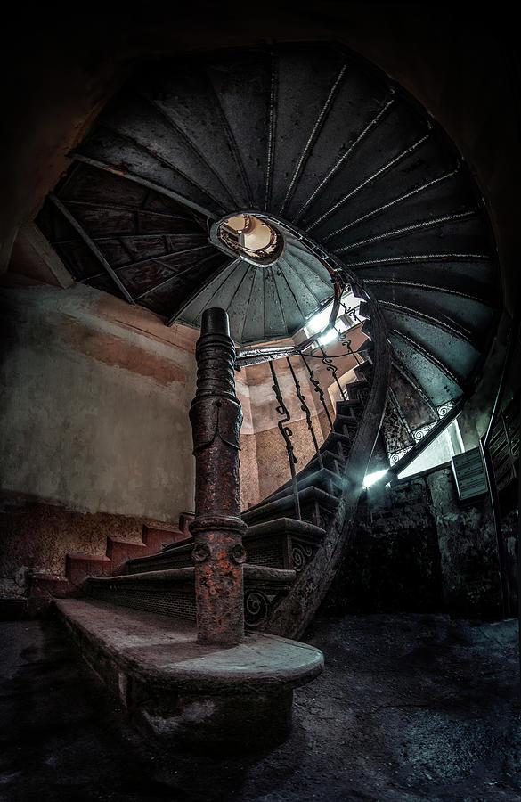 Abandoned Staircase  by Jaroslaw Blaminsky