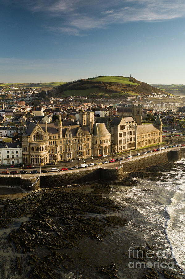 Aberystwyth Photograph - Aberystwyth University Old College Building by Keith Morris