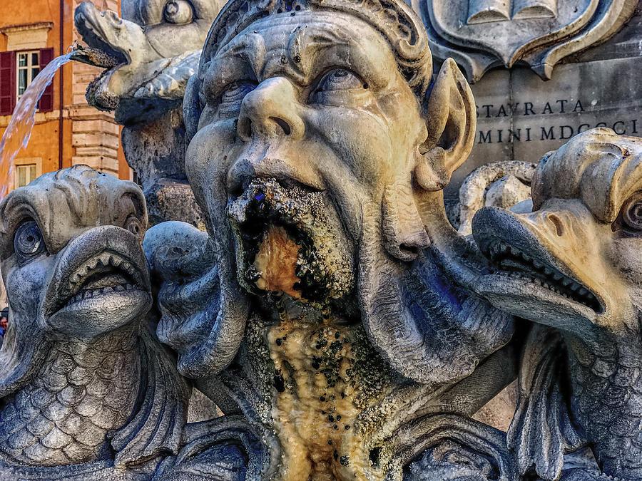 Fontana Del Pantheon Photograph - Above by Joseph Yarbrough